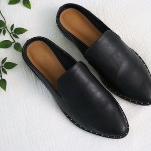 UNIVERSAL THREAD Black Studded Mules Size 8